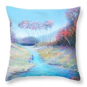 Tadpoling By The River Throw Pillow