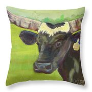 Tagged Throw Pillow