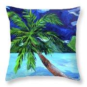 Tahiti Beach Throw Pillow