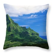 Tahiti, Moorea Throw Pillow by Vince Cavataio - Printscapes