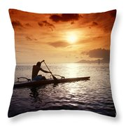 Tahiti, Papeete Throw Pillow