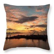 Tahiti Sunset Throw Pillow