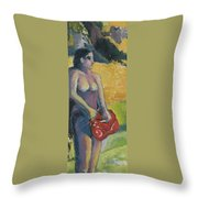 Tahiti Tryptic 1 Throw Pillow