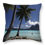 Tahiti View Throw Pillow