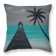 Tahitian Blue Throw Pillow