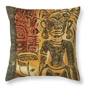 Tahitian Idol Throw Pillow