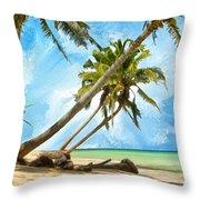 Tahitian Idyll Throw Pillow