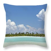 Tahitian Lagoon Throw Pillow
