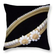 Tahitian Sea Shell Haku Throw Pillow