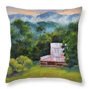 Tahlequah Ridge Morning Throw Pillow