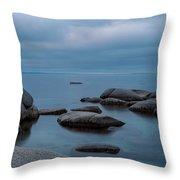 Tahoe Blue Throw Pillow