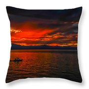 Tahoe Boat Ride Throw Pillow