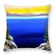 Tahoe Morning Throw Pillow