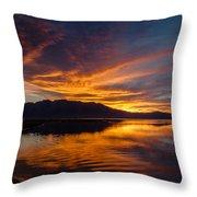 Tahoe Sunset Luminosity Throw Pillow