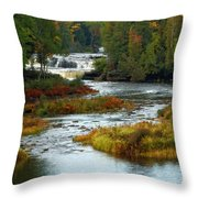 Tahquamenon Falls State Park Throw Pillow