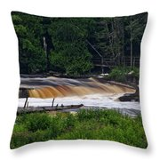 Tahquamenon Lower Falls Upper Peninsula Michigan 04 Throw Pillow