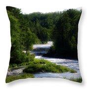 Tahquamenon Lower Falls Upper Peninsula Michigan 12 Throw Pillow