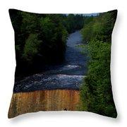 Tahquamenon Lower Falls Upper Peninsula Michigan Vertical 07 Throw Pillow