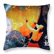 Taiko Drumming Throw Pillow