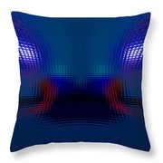 Tail Lights In The Rain Throw Pillow