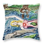 Tail Of Love Throw Pillow