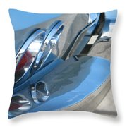 Taillight Reflections Throw Pillow