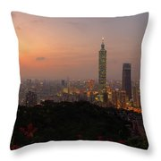 Taipei 101, Taiwan Throw Pillow