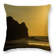 Taitomo Island Sunset Throw Pillow