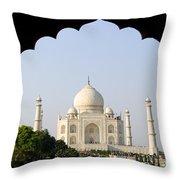 Taj Mahal At Sunrise Throw Pillow