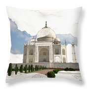 Taj Mahal Dreams Of India Throw Pillow