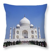 Taj Mahal Landscape Throw Pillow