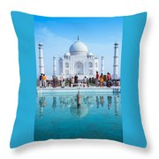 Taj Mahal  Throw Pillow by Nila Newsom
