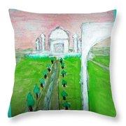 Taj Mahal Noon Throw Pillow
