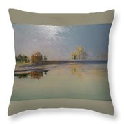 Taj Mahal Sunrise Throw Pillow