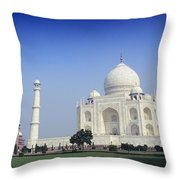 Taj Mahal View Throw Pillow
