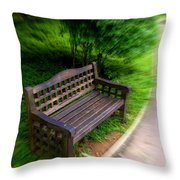 Take A Pause In Your Busy Life Throw Pillow