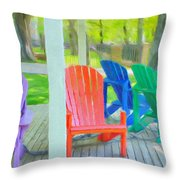Take A Seat But Don't Take A Chair Throw Pillow