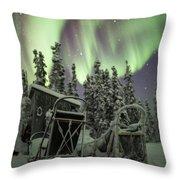 Take A Seat For The Aurora Custom 1x1 Throw Pillow