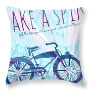 Take A Spin Throw Pillow