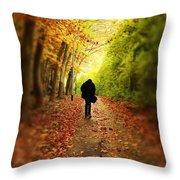 Take A Walk Throw Pillow