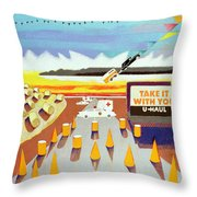 Take It With You Throw Pillow