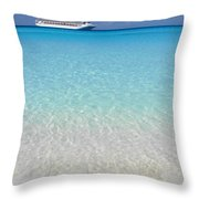 Take Me Back To Half Moon Cay Throw Pillow