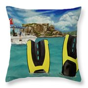 Take Me To Creole Rock Throw Pillow