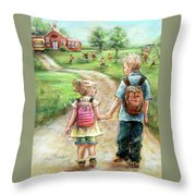 Take My Hand Little Sis Throw Pillow