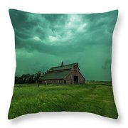 Take Shelter Again Throw Pillow