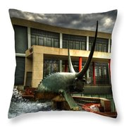Take The Bull By The Horns Throw Pillow