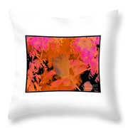 Take Three Floral Abstract Throw Pillow