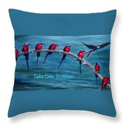 Take Time To Relax Throw Pillow