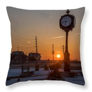 Take Time To Remember Seaside Park Nj Throw Pillow