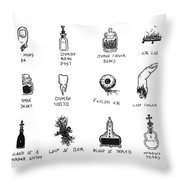 Taken From Humans Throw Pillow